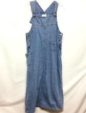 Christopher Banks Womens M Overall Jean Skirt Dress Jumper Blue Denim Pockets