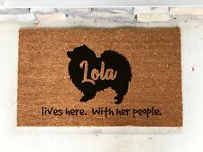 Keeshond- Keeshond Dog Breed- Keeshond Doormat- Welcome Mat- Personalized dog