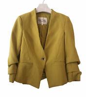 Rachel Rachel Roy Jacket Blazer Yellow Mustard Size 0 Work Formal Career