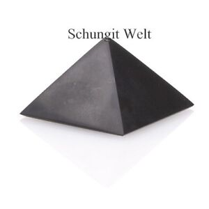 Schungit Pyramide poliert verschiedene Größen original Schungit Karelien NEU!