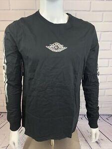 Men's Jordan Sportswear Heritage GFX2 Long-Sleeve T-Shirt Black Size L
