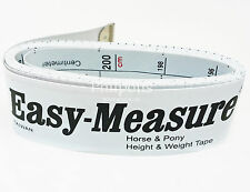Easy Measure Horse & Pony Weigh Tape - Height & Weight measuring band - FREEPOST