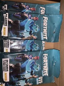 Panini Fortnite Reloaded - 10 Fat Packs Sealed Packets 24+2 Free Cards Each Pack