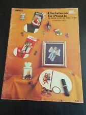 Christmas In Plastic Plastic Canvas Projects Book ~Sabra ~ 1982 ~ 17 pages