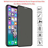 5Pcs Privacy Anti-Spy Tempered Glass Protector Screen Film For iPhone 11/Pro/Max