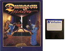 """DUNGEON MASTER : floppy disc 3,5"""" Commodore Amiga backup game disk (READ)"""