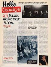 Hello, Goodbye Rick Wakeman & Yes Mag Cutting