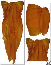 Burnt Orange Beach Sarong Pareo Wrap Bikini Cover Up Large Full Size