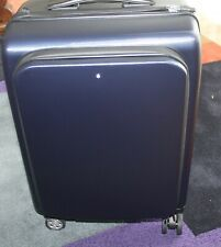 Montblanc Nightflight Trolley On-board 4 Wheels Blue Hardshell  Travel new