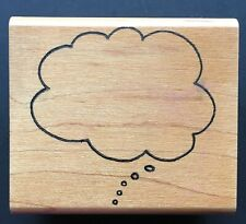 Cloud Thought Balloon Dialogue Symbol Embossing Arts Wood Mounted Rubber Stamp