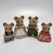 Vintage Sylvanian Families Tomy UK 1980's The Norwood Mouse Family RARE & HTF