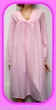 Biancheria manica lunga rosa lunghezza al ginocchio per la notte da donna