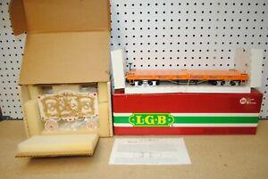 LGB 4260-DG Wilson Bros. Circus Yellow Flat Car w/Tableau Wagon *G-Scale* NEW