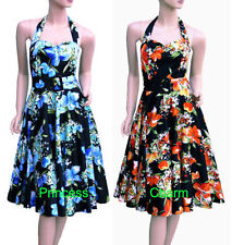 Rockabilly Dresses Halter Midi