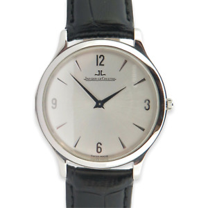 .Auth Jaeger LeCoultre Master Control Ultrathin Steel Wrist Watch Ref.145.8.79.S