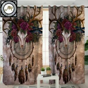 Mystery Skull Dreamcatcher By Sunimaart Curtain For Living Room Window Curtain