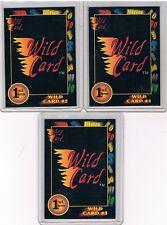 Complete LOT 3 Scarce 1991 Wild Card 1st Edition DEALER PROMO REDEMPTION CARDS!