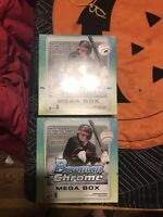 (2) Lot Of 2020 Factory Sealed Bowman Chrome Mega Boxes!