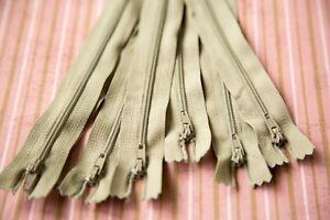 10  x 16 cm  Clay coloured DRESS   ZIPS ZIPPERS  (#  338     )