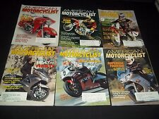 2002 AMERICAN MOTORCYCLIST MAGAZINE LOT OF 12 ISSUES - FAST BIKES - M 486