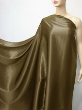 "by the metre ""off brown""100% pure silk fabric satin silky charmeuse crepe back"
