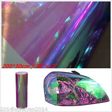 200x30cm Chameleon Purple Tint Auto Car Headlight Taillight Fog Light Vinyl Film