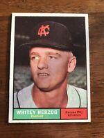 1961 Topps Whitey Herzog #106