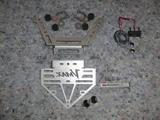 License plate holder for Yamaha Vmax 1700 with mini indicator, resistors, micro