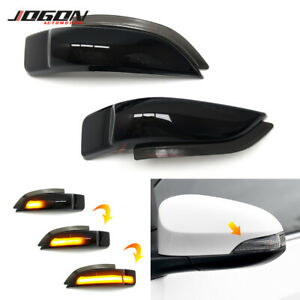 For TOYOTA Camry Corolla Prius Venza Avalon LED Mirror Dynamic Turn Signal Light