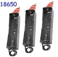 3x Battery Holder Case Clip Box for Single 18650 3.7V Li-Ion Battery - US Seller