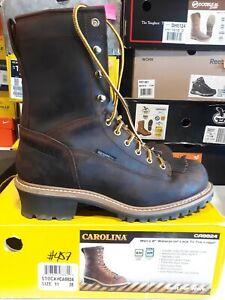 Men's Carolina Spruce Waterproof Boots 11 EE FREE SHIPPING #457