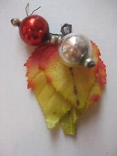 "Antique German Christmas Silver Glass Ornament Construction ""Fruits"""