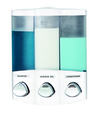 Better Living Products 76354 Euro Series TRIO 3-Chamber Soap and Shower Dispen..