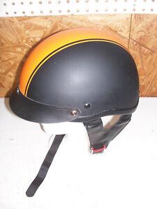 HCI Size Medium Motorcycle Half Helmet Harley Davidson Orange Black Men's M ATV