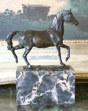 Horse Farm Ranch Equestrian Trail Riding Club Bronze Marble Statue Award Gift