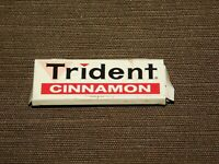 "VINTAGE 2 1/4"" LONG TRIDENT CINNAMON GUM TIN *EMPTY*"