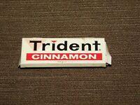 "VINTAGE 2 1/4"" LONG TRIDENT CINNAMON GUM TIN *EMPTY*"