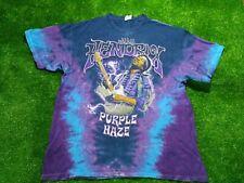 🟢Vintage 1990s JIMI HENDRIX PURPLE HAZE Tie Dye Rock Band Retro T Shirt🟢-XL-