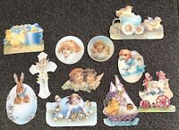 11 Die Cut Gift Tags Old Print Factory 1990s VTG Style Victorian Scrap Paper #8