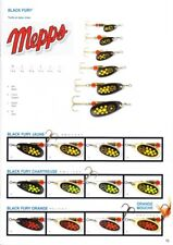 Mepps: cuiller Comet Black Fury N°0 or points jaunes