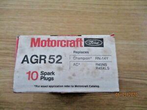 10 NOS Motorcraft Autolite AGR52 Spark Plugs Vintage same as Champion 405 AMC
