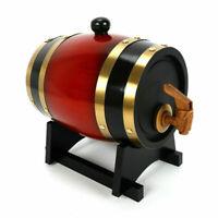 10L Wooden Barrel Storage Holder Wine Whiskey Spirits Wine Barrel Keg US NEW