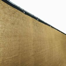 Customize Beige 6' Tall Fence Privacy Wind Screen Mesh Fabric Shade 25 Ft ALEKO