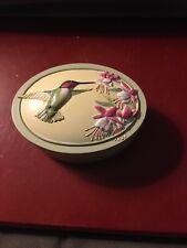 Marjolein Bastin signed Trinket Box Hummingbird W' Flowers Nature's Sketchbook