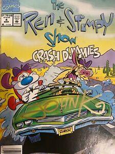 John Kricfalusi signed REN AND Stimpy comic #4 with JSA COA!! John K