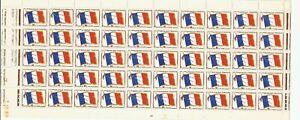 TIMBRES F M  X 50    neuf : Demi  planche  de : 7/10/1969