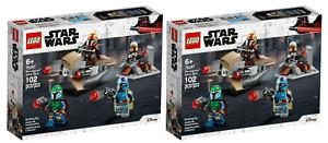LOT of 2! LEGO Mandalorian BATTLE PACK Warriors 75267 Speeder STAR WARS Sealed!