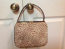 Saks Fifth Ave Classic Pony/Cow Hair Fur Handbag Purse Tote Excellent Condition!