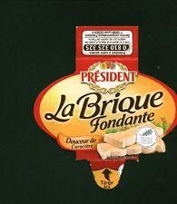 Etiquette de Fromage  Président la Brique Fondante    No 210