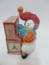 Fitz & Floyd Snowman Jamboree Candy/Trinket Dish